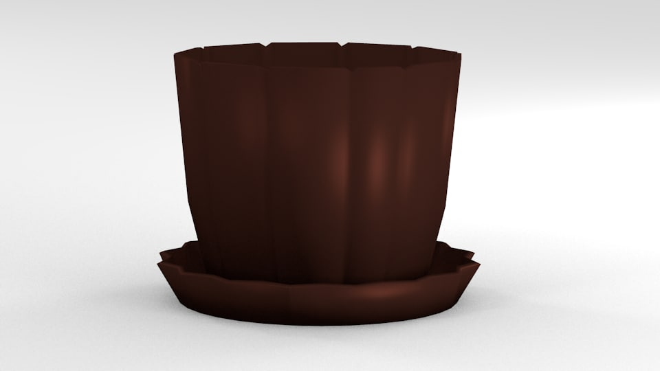 free 3ds mode flower pot