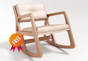 free modelled sleepy chair 3d model