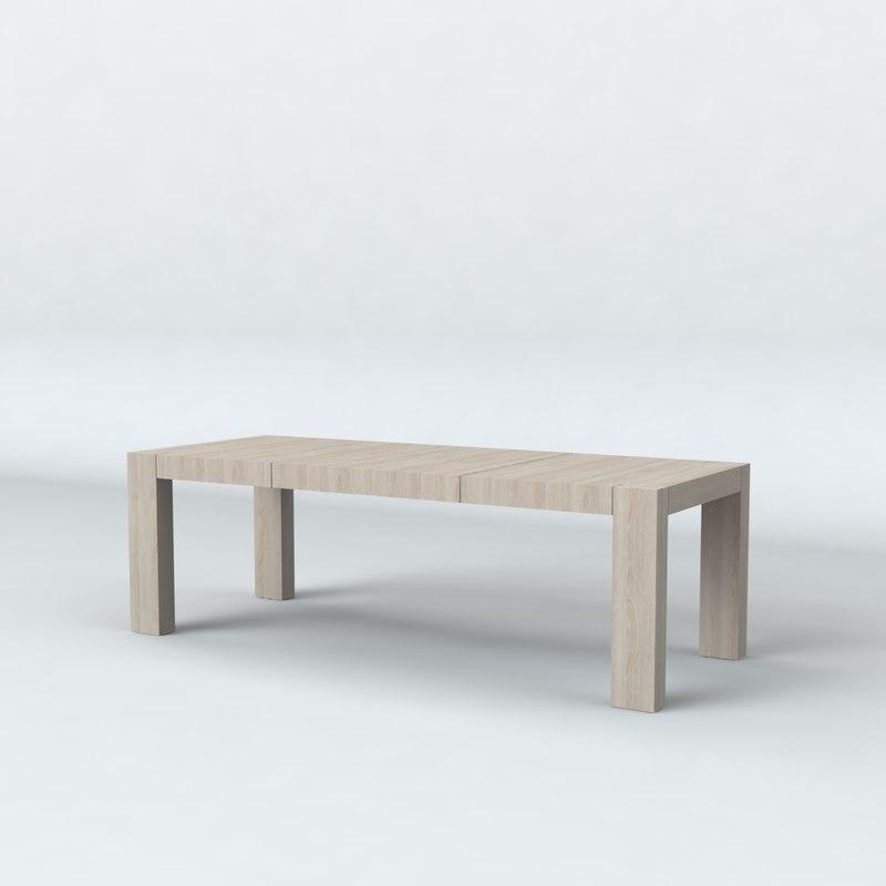 table kaspian 3d model