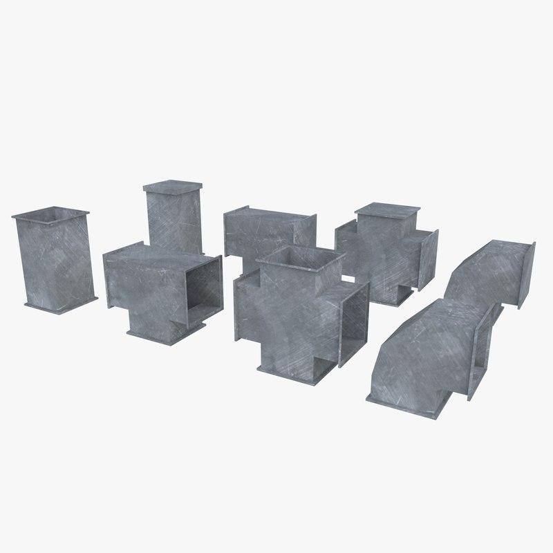 modular ventilation shaft 3d 3ds
