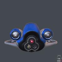sci-fi speeder 3d obj