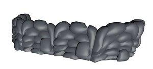3d model sandbag wall