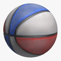 3d basketball old 4 colors model