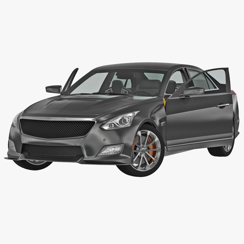 generic sedan 2 rigged 3d max