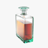 perfume bottle studio 3d model