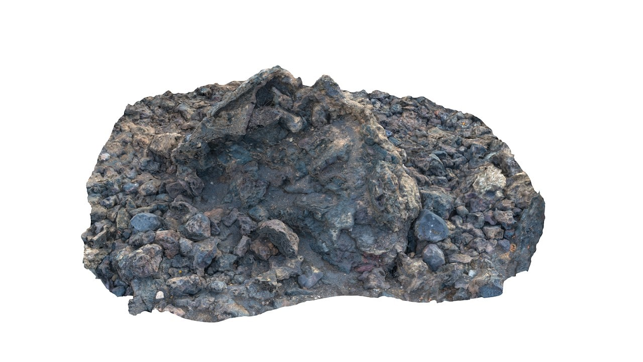 lava scanned 8k 3d model