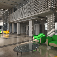 3d model hall interior