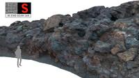 lava cliff 16k 3d model