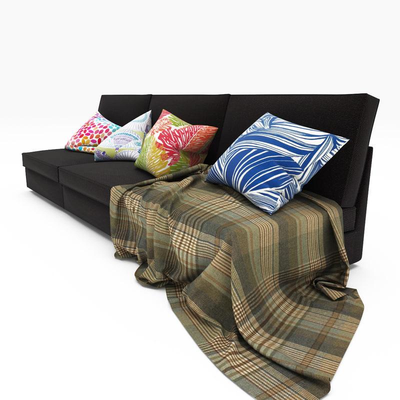 3 ikea sofa 3d model