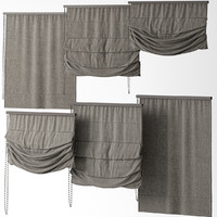 3d blinds curtains model