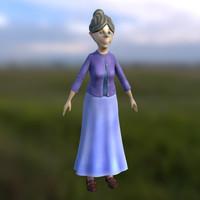3d sweet grandma model