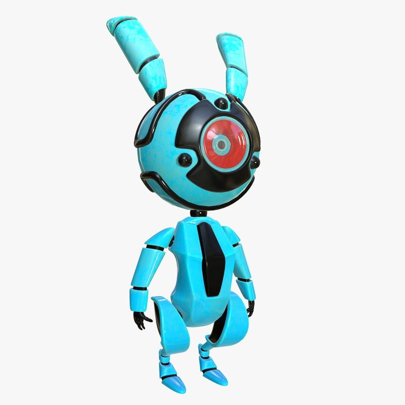 robot rabbit 3d max