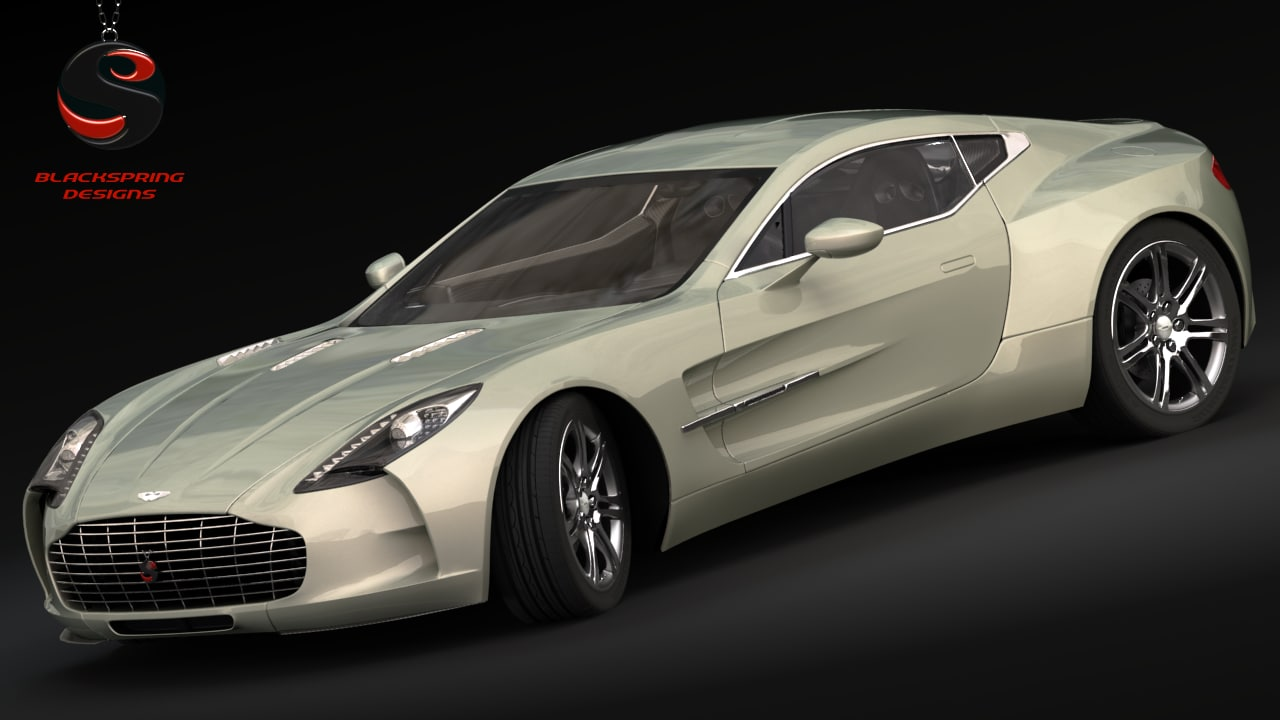 3d model of aston martin one-77 2010