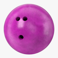 bowling ball purple modeled 3d model