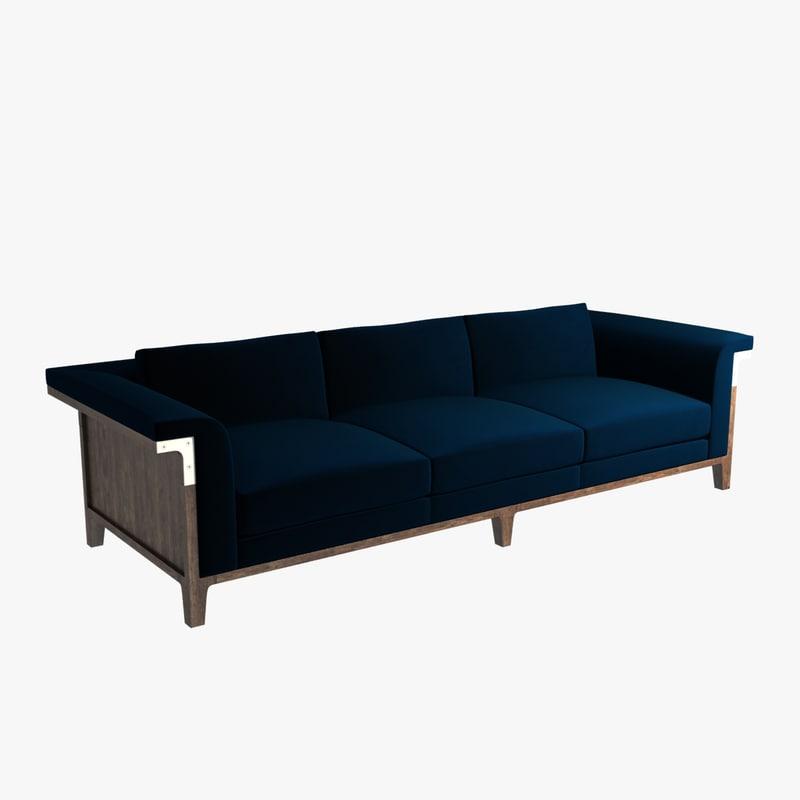 3d model sofa holly hunt hadrien