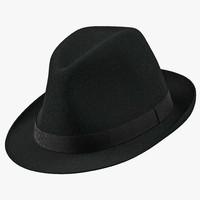 3d model fedora hat