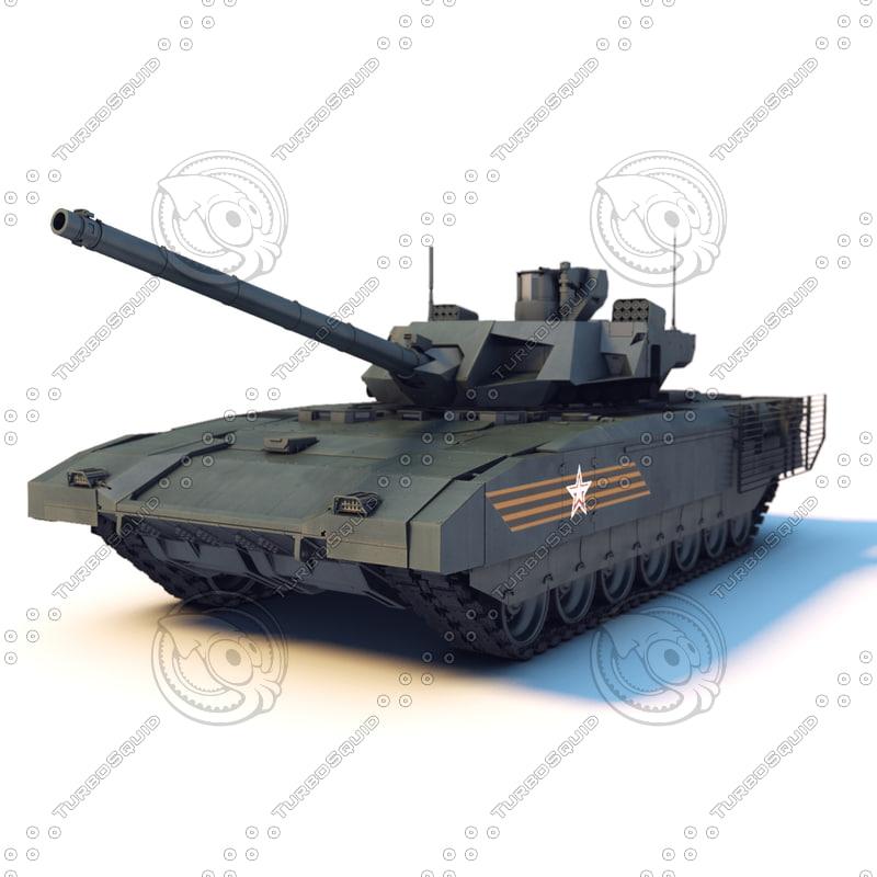 russian tank t-14 armata 3d max