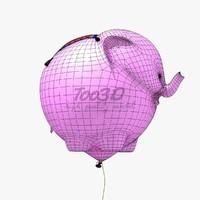 elephant balloon 3d model