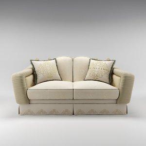 3ds max bruno zampa achille sofa