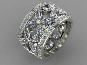 3d model ring marquises