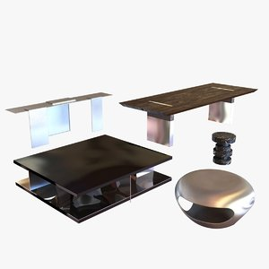 3d model table holly hunt
