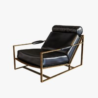 3d chair bronze frame model