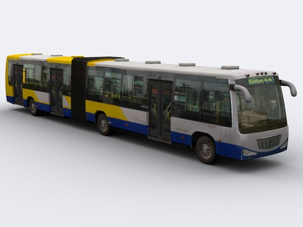 3d articulated bus city model