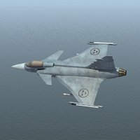 3d model jas39 gripen fighter jet