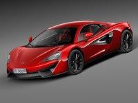 3d 2016 coupe mclaren model
