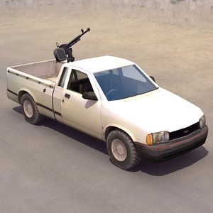 technical pickup truck 3ds