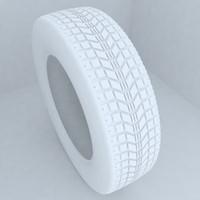 3d model car tires