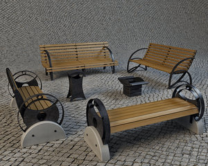 3d benches urns