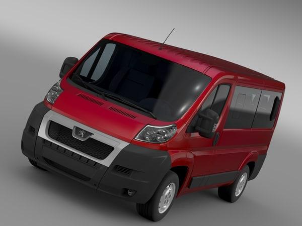 3d model peugeot boxer window van