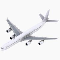 a340-600 simulations aircraft 3d max