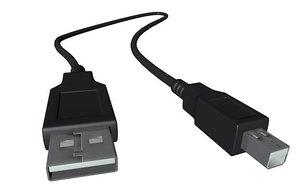 3d usb cable model