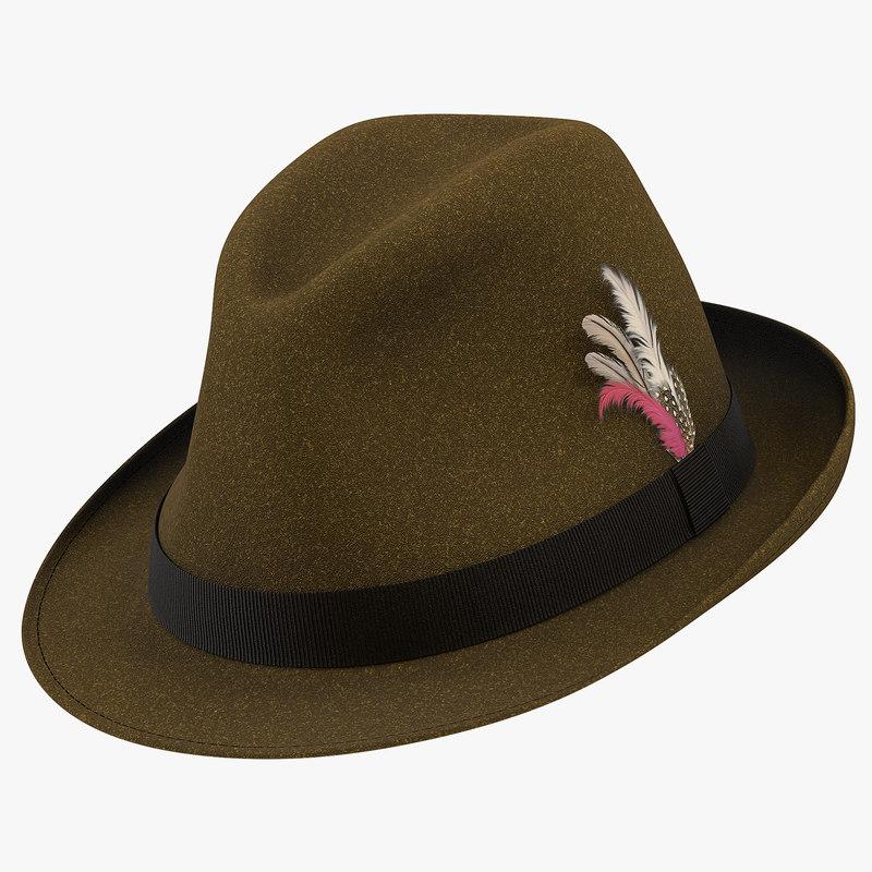 fedora hat 2 brown ma