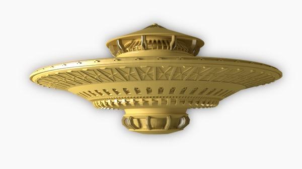 3d model ufo spacecraft