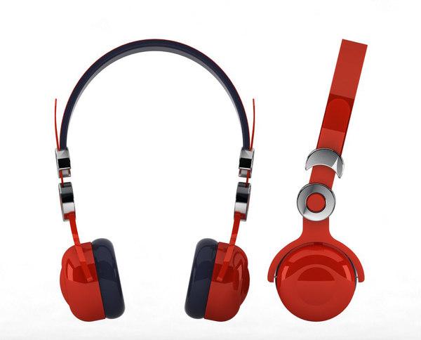 3d stereo headphones model