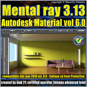 Mental ray 3.13 in 3dsmax 2015 Vol.6 Autodesk Material cd front