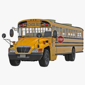 school bus 2 3d model