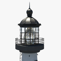 northern lighthouse light 3d ma