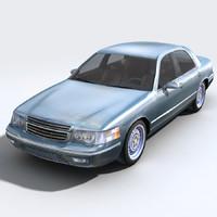 3ds max car sedan
