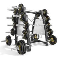 3d model barbell disc
