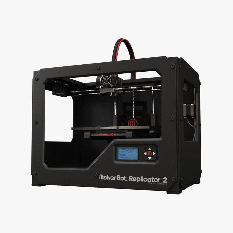 makerbot replicator 2 3d model