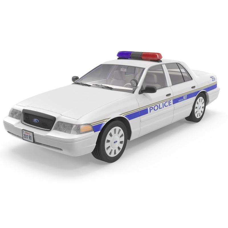 3dsmax crown victoria police car