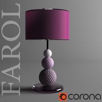 farol table lamp 3d model