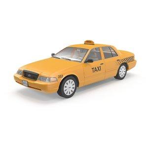 crown victoria taxi 3d model