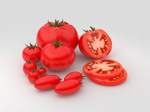 tomatoes realistic 3d model