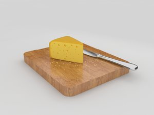 cutted cheese 3d model