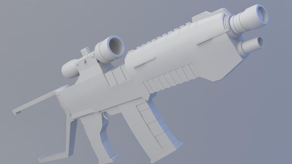 3d gun file model